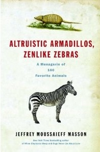 An armadillo at the top and a zebra under the title