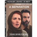 DVD cover of A Separation shows a female with a headscarf and a bearded male behind her