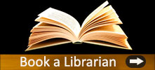 "Image of an open book and the text, ""Book a Librarian."""