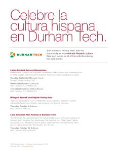 Screenshot of events noted on Durham Tech's website