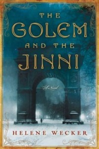 """Classical architecture in the blue background with the title """"The Golem and the Jinni"""""""