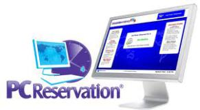 Image has the PC Reservation logo and the image of a computer monitor.