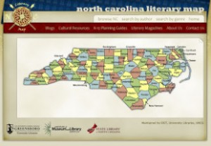 A map of North Carolina noting the counties