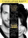 "DVD cover shows half of Bradley Cooper's face on the left and half of Jennifer Lawrence's face on the right. The title, ""Silver Linings Playbook"" is in the middle between their faces."