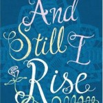 Blue cover with lace behind the title