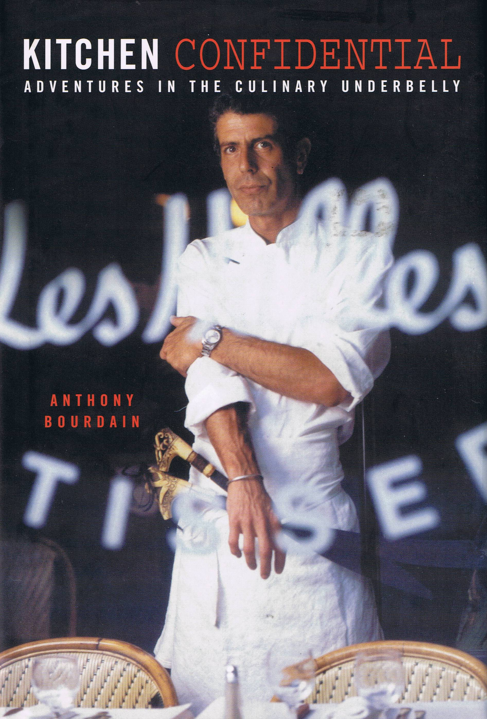 Kitchen Confidential by Anthony Bourdain book cover