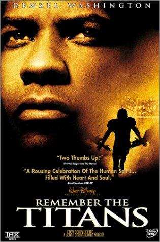Denzel Washington's face next to a shadowed football player.