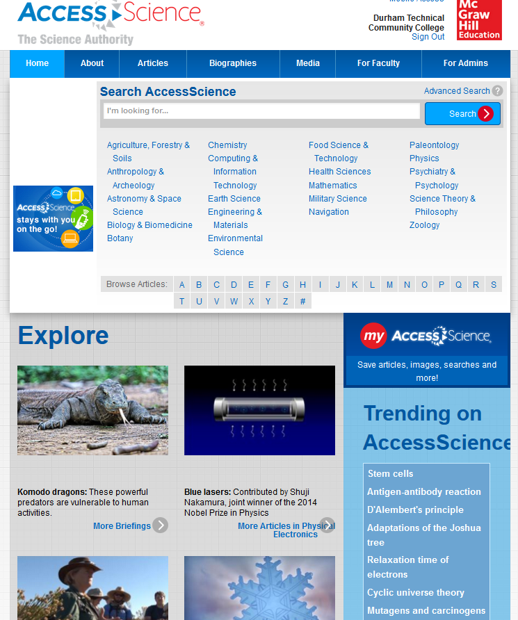 accessscience home page
