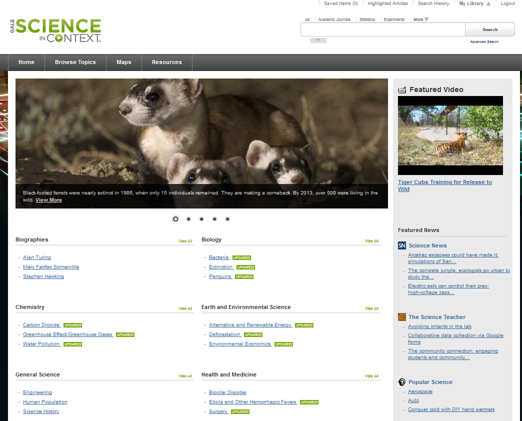 science in context home page