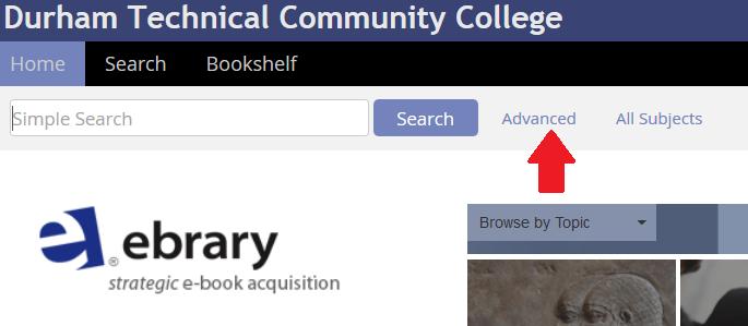 ebrary e-book advanced search