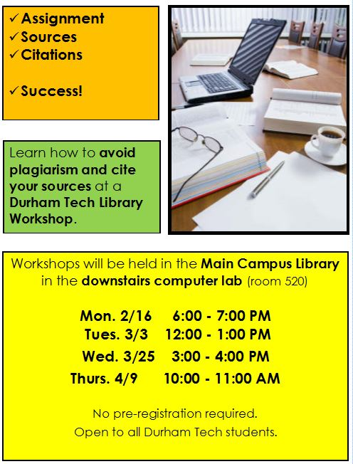 Citation Workshops information
