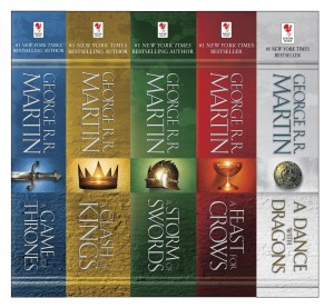 Game of Thrones Books 1-5 book spine image