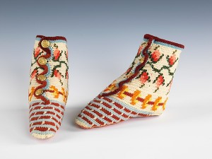 Crocheted Baby Bootees from the 1870s