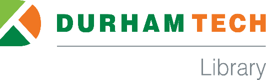 Durham Tech Library Logo