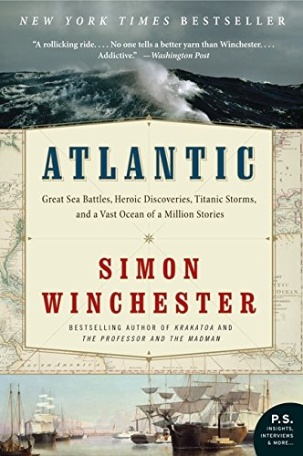 Title on cover with a map and ocean background.