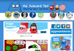 The Awkward Yeti website homepage screenshot