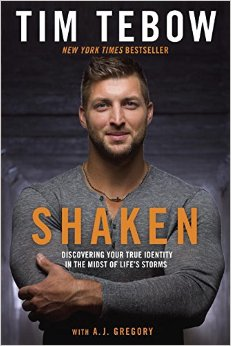Shaken: Discovering Your True Identity in the Midst of Life's Storms by Tim Tebow book cover