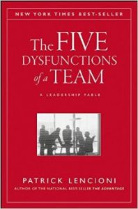The Five Dysfunctions of a Team: A Leadership Fable by Patrick Lencioni book cover