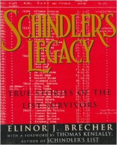 Schindler's Legacy by Elinor Brecher book cover