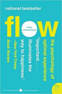 flow by mihaly csikszentmihalyi book cover