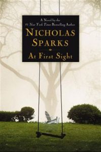 at first sight by nicholas sparks book cover