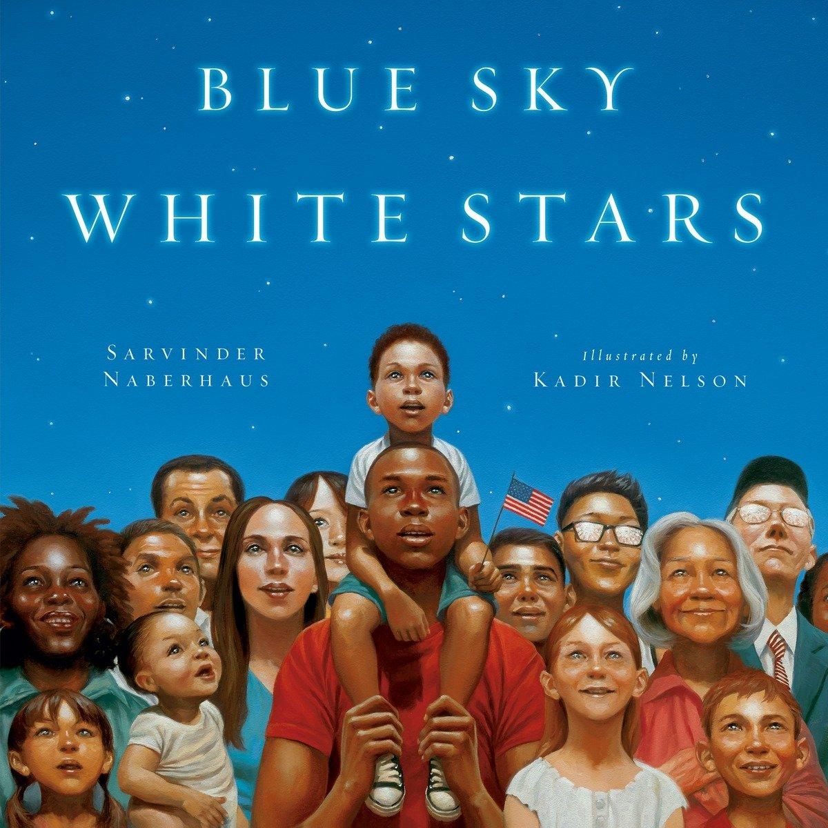 Blue Sky White Stars by Sarvinder Naberhaus