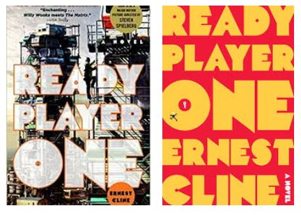 two ready player one by ernest cline book covers