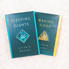 themis files series-- sleeping giants waking gods by sylvain neuvel book covers