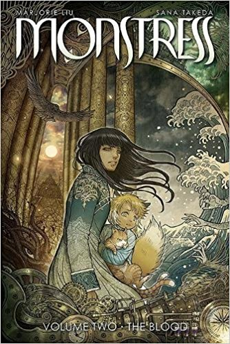 monstress vol 2 by Marjorie Liu and illustrated by Sana Takeda book cover