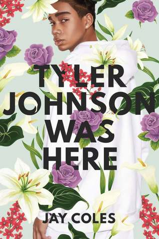 Black teen looks over his shoulder with flowers all over the cover.