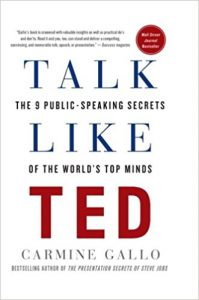 talk like ted: the nine public-speaking secrets of the world's top minds by carmine gallo book cover