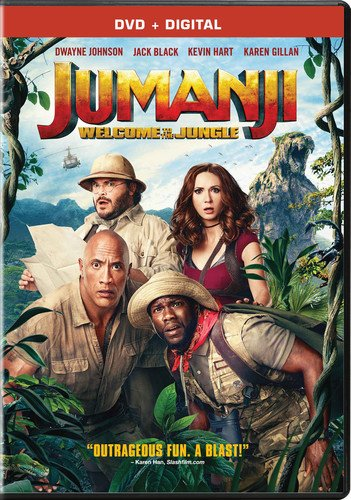 The four main characters, surrounded by jungle, look bewildered into the camera.