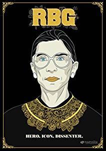 Illustration of Ruth Bader Ginsburg.