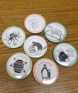 reading mascot buttons