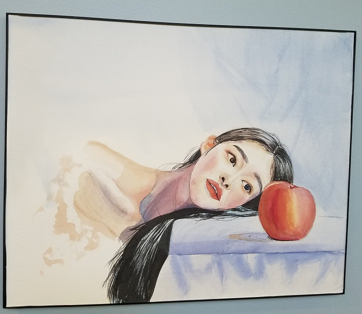 "Jasmin Ochoa-Benitez ""Woman Gazing at Apple"""