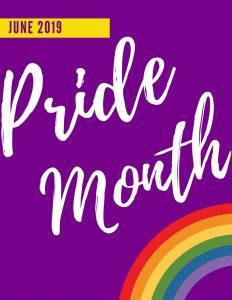 Pride month image of rainbow