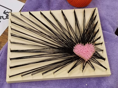 string art image of heart