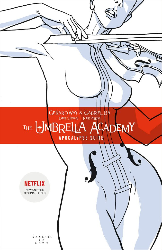 The Umbrella Academy by Gerard Wary and Gabriel Ba, illustrated by Dave Stewart and Nate Piekos
