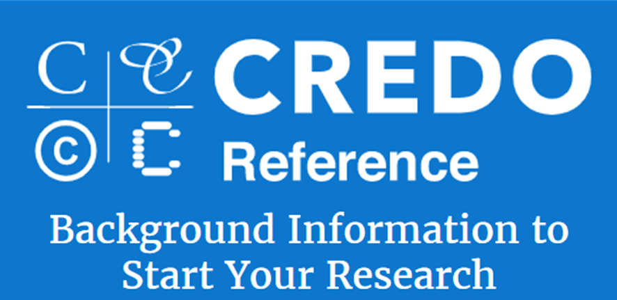 Credo Reference: Background Information to Start Your Research